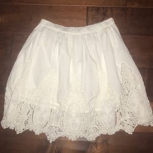 White Skirt with Details